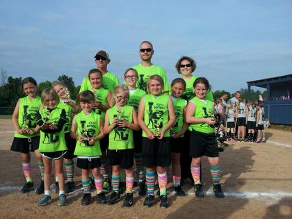 The 9U Green Leopards are Kayleigh Spratt, Macie Sandidge, Ellee Price, Alivia Akers, Emma Shelton,  Sharrone England, Alana Cecil, Gracie Traxler, Sophia Thompson and Hailey Kelly. Coaches are Tiffany Spratt, Jon Spratt, Scott Sandidge and Jonathan Price.