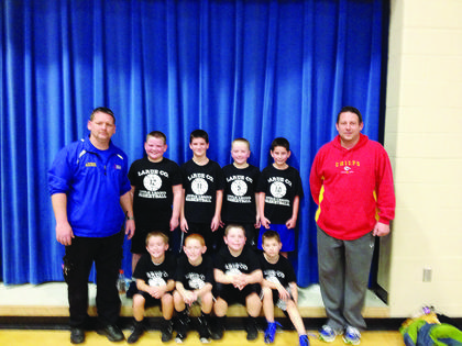 Black Team - Coach Derek Ford; players are Curtis Ford, Carson Childress, Bryce Firquin, Kaiden Price, Elam Stillwell, Jagger McBride, Alton Riggs and Christian Viers.