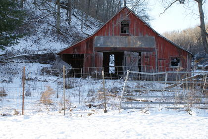 Barn on Robert Enlow property, Bardstown Road