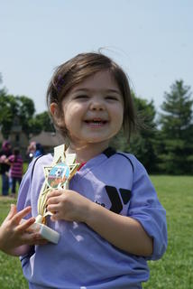 Claire Higginbotham competed in a preschool soccer league in Lexington this spring. She is the 3-year-old daughter of Adam and Amanda Higginbotham and granddaughter of Bud and Linda Ireland of Hodgenville.