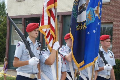 ROTC in the Iron Horse parade.