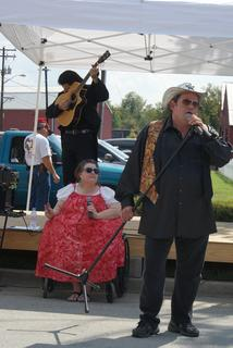 Elvis and Meatloaf AKA The Perkins Brothers perform Saturday afternoon.