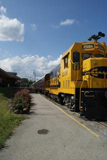 The Kentucky Railway Museum offered train rides during the festival.