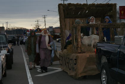 Ovesen Heights Baptist Church entered a float in the New Haven Christmas Parade.