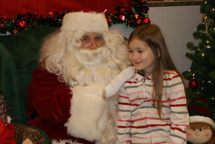 Carmen Dell' Agnello, 7, told Santa she wanted a pig for Christmas.
