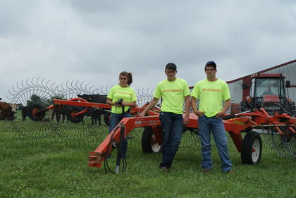 Felicia Hornback, Dalton Hornback and Turner Cottrell assisted with AGstravaganza activities and tours.