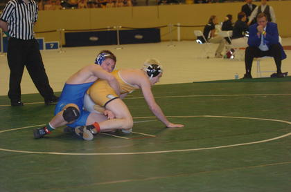 Shawn Hull wrestled Saturday in a consolation match, winning a third place medal.