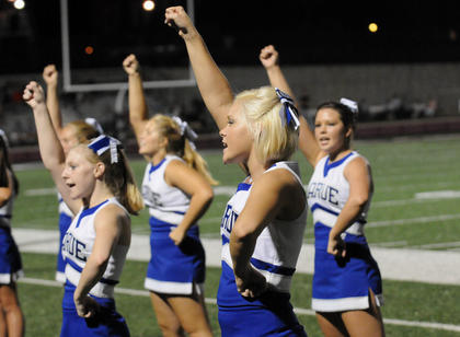 LaRue County High School cheerleaders