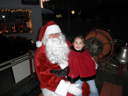 Heaven Carpenter, 4, enjoyed visiting with Santa.