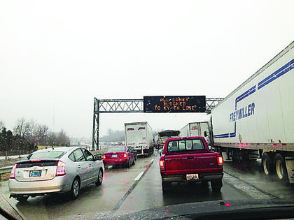 Interstate 65 was shut down from Elizabethtown to the Tennessee border.