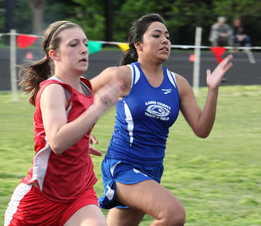 Cindy Martinez placed 18th in the 100-meter dash at the 5th Region track and field meet in Bardstown.