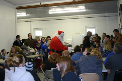 Santa visited with the large crowd inside Magnolia Firehouse.