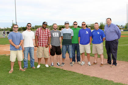 Members of the 2003 Championship team 10 years later. LEFT TO RIGHT  Bryan Allen, Scott Edwards, Courtney Williamson, Jarrod Butler, Dustin Dills, Justin Ward, DW Cruse, Eric Allen, David Dawson
