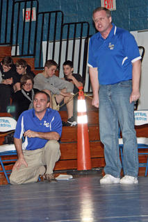 Head Coach Gary Canter, left, and Assistant Coach Eddie Paden