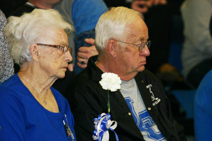 John and Gail Gozzard, parents of D.J. Canter