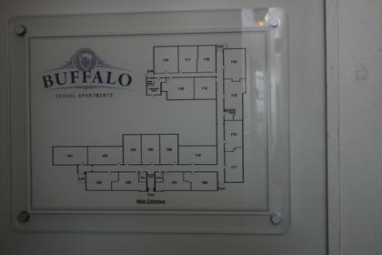 Map of Buffalo School Apartments
