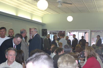 About 100 attended the Lincoln Dinner.