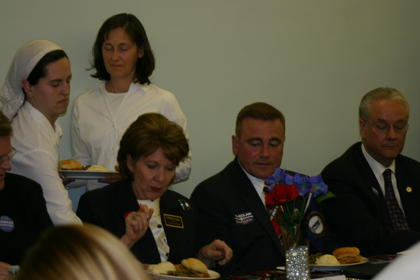 From left, Hilda Legg, secretary of state candidate and Bill Vermillion Jr., lt. governor candidate, and Sen. David Williams, candidate for governor.