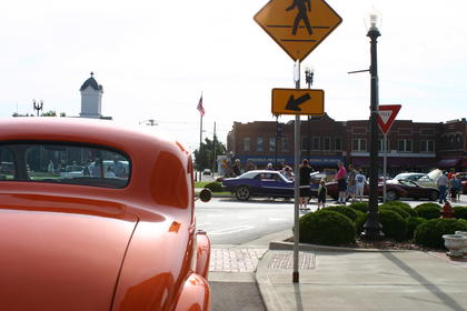 Terry Taylor parked his 1938 Chevy on East Main Street.