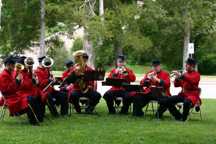 About 60 people attended the July 4 concert by Saxton's Concert Band. The group plays Civil War-era music on vintage instruments. The event was held at Abraham Lincoln Birthplace National Historic Park.