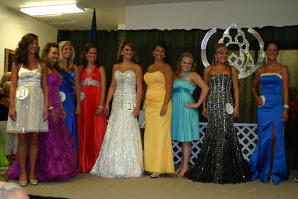 Miss LaRue County Fair contestants