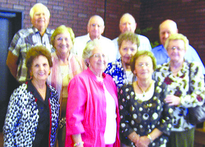 The 1954 class of Magnolia High School met recently at the Decades Restaurant in Magnolia for their annual dinner. Those present were: Peggy Freeman Lokey, Lynda Wagoner Stearman, Yvonne Pennington Bennett, Carolyn McCubbin Gaddie, Rheta Heath Davis, Louise McCandless Hargrove (& Eddie), Paul Fulkerson, Adrian Milby (& Elsie), Paul Cruse (& Alzena), and Noah Vance (& Pat).