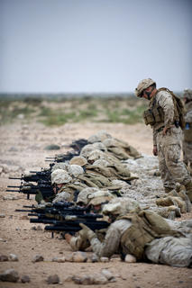 Marines work on their marksmanship while deployed to southern Morocco in support of African Lion 2011.