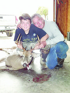 Tanner Nalley of Hodgenville harvested this nine-point buck during Youth Weekend. He and his papaw, Thomas Jackson, tracked the deer more than two miles before finding the 160-pounder.