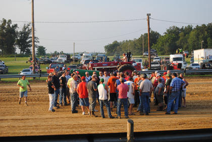 Tractor pull drivers meeting