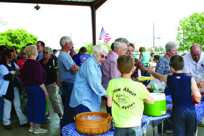 A large crowd turned out for Ag Market Day on May 20 at the LaRue County Extension Service.