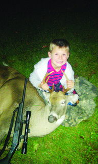 Brody Higgs, 7, shot this six-pointer near Sonora in LaRue County on Oct. 14 during youth gun weekend. He made the shot from 100-yards. He is the son of Jana Higgs.
