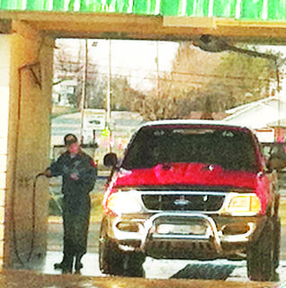 Residents flocked to car washes over the weekend to clean salt residue from their vehicles. Salt trucks were out in force Thursday due to icy conditions.