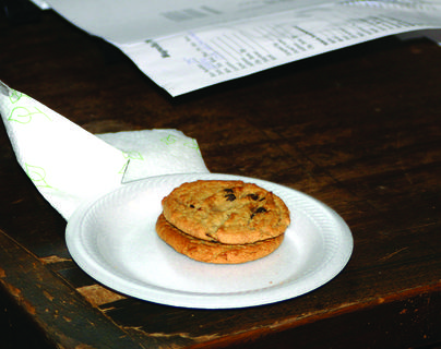 Santa enjoyed a couple of chocolate chip cookies left for him on a desk inside Magnolia Firehouse.