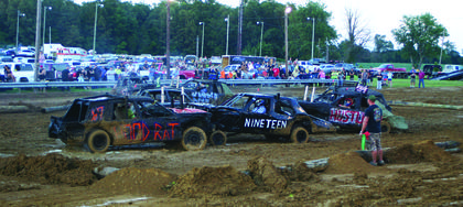 Rod Rat took on Car Nineteen during the demolition derby.