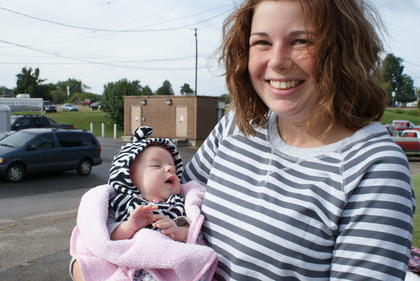 Greta Riggs, the 8-week-old daughter of Brenda Riggs, enjoyed her first Upton Days.