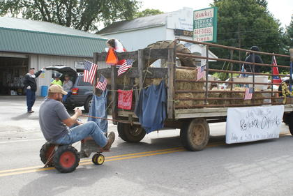 This float promoted the Redneck Olympics at Upton Ball Park.
