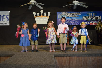 The winners of the Litle Miss and Master pageant were from left, Addilyn Grace Roberts, 6, and Cooper Traxler, 5, third place. Riley Willian, 7, and Rylee Cundiff, 7, second place. Kaylence Brook Bennett, 5, and Brady Edwards, 6, first place.