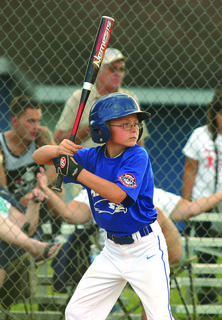 LaRue County's Zane Constant at bat