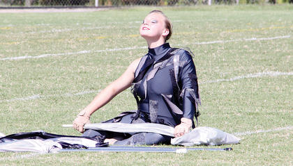 Morgan Humphrey and the rest of the Band's colorguard received top scores in the Taylor County Marching Invitational.