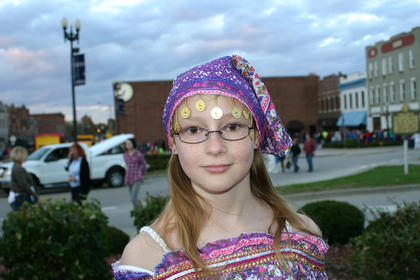 Kaleigh Graham, 11, dressed as a gypsy.