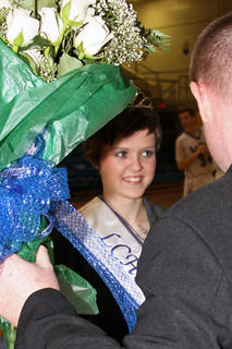 Samantha Drake was chosen Basketball Homecoming Queen Friday.