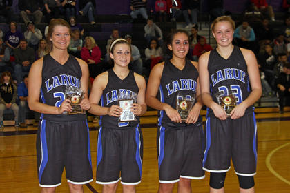 Allison Evans, Delany Eastridge, Alexis Brewer and Ivy Brown were selected to the 18th District All Tournament Team.