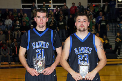 Tyler Howell and Kody Key-Close were named to the All-District regular season squad.