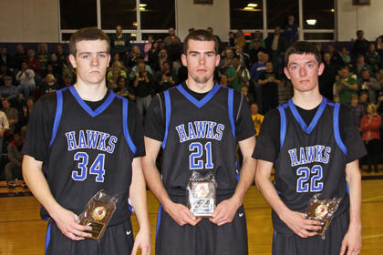 Caleb Sheffer, Tyler Howell and Micah Wiseman were named to the All-Tournament team.