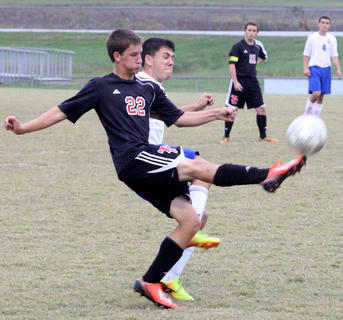 Kyle DeVary battled for possession during last week's District Tournament.