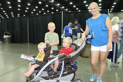 Leanne  Ragland of Magnolia,  with her three sons, Carter, Charlie and  Cory, were seen enjoying the sights and sounds of the fair.