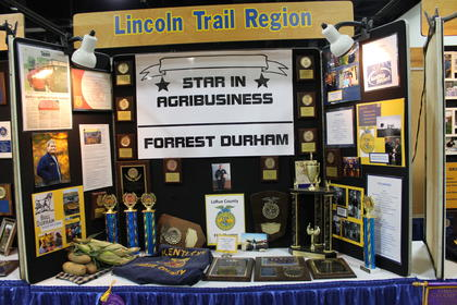 Forrest Durham, a 2016 LCHS graduate, was featured in the FFA exhibits at the State Fair.