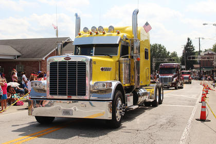 "The theme for the Iron Horse parade was ""Let the good times roll"" local truck drivers were honored in the parade."
