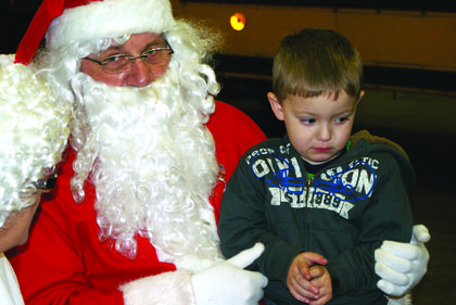 Jacob Reiter was a little shy when Santa asked what he wanted for Christmas.