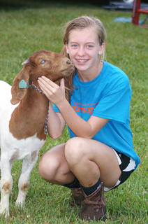 Lexi Grimes' goat was a hit among younger children at AGstravaganza.